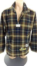 DISNEY OUTDOORS MENS BLACK & BROWN PLAID FLEECE JACKET SIZE M