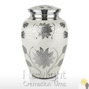 White Lotus Flower Urn