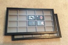 """Box of (2) 8 x 14-1/2 x 1"""" Display Cases with Dividers for Lighters (20 squares)"""