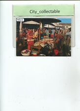 MP043 # MALAYSIA MINT PICTURE POST CARD G.W 186 * EAST COAST MARKET SCENE