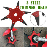 🌟 6 Steel 70mm 65Mn Blades Trimmer Head Razors Lawn Mower Grass Cutter Tool