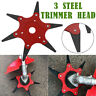 🌟 6 Steel 70mm 65Mn Blades Trimmer Head Razors Lawn Mower Grass Cutter Tool