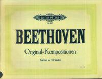 Beethoven - Original-Kompositionen - Klavier zu vier Händen