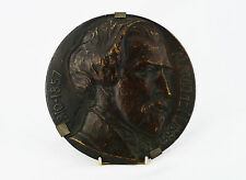 Alfred de Musset par Jules Prosper LEGASTELOIS(1855-1931)Médaillon bronze 13,6cm