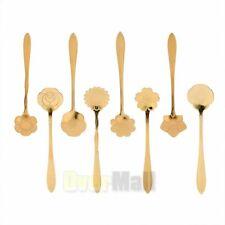 8 Pieces Stainless Steel Tableware Creative Flower Coffee Sugar Tea Spoon Stir