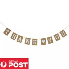 Thank You Party Wedding Engagement Birthday Sign Bunting Garland Prop Rustic