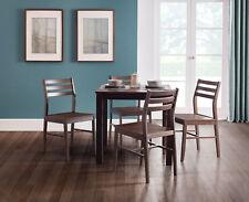 Monterey Dining Set With 4 Chairs in Dark Walnut Melamine by Julian Bowen
