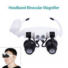 Headband Binocular Magnifier With 6 lenses Loupe Microscope For Watch Repair
