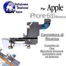 Connettore Ricarica Dock Jack Cuffia Microfono Antenna Apple iPhone 6S Bianco