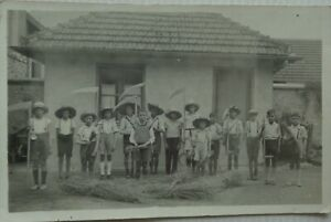 CPA Groups Children Gathering the Reapers Good Condition 1934