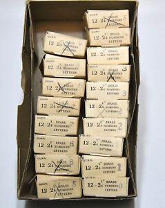 170  VINTAGE1950's-60's NOS NEW OLD STOCK 2 1/4 INCH BRASS DOOR NUMBERS 0-9