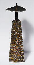 Kerzenleuchter Leuchter Kerzenständer Eisen Schmiedeeisen 1970er Handarbeit 38cm