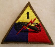 WWII LEMON APEX TANKER JACKET WOOL 1ST ARMORED DIVISION PATCH