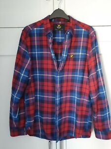 Lyle And Scott Checked Flannel Shirt Size S