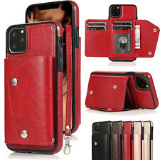 Leather Flip Wallet Card Holder Case Cover For iPhone 11 XS Max XR X 8 7 Plus 6S