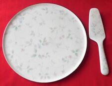 Vintage Bone China Cake Plate & Server Set by Mikasa 1986-1988 Feelings