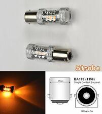 Strobe 1156 2396 P21W 3497 7506 1141 BA15S 80w LED Amber Rear Signal B1 Euro U