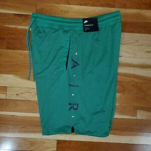 Nike Men's Sportswear Air Knit Mesh Shorts Ab3 Green 886066-368 Large NWT