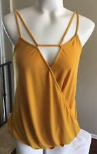 Womens Top Strappy Knit Cami Tank Size Small by Socialite
