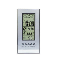 Daily Clock Wireless Weather Thermometer Hygrometer Station Forecast Calendar