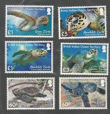 BIOT B.I.O.T. Turtles Set Plus Souvenir Sheet (7v) New Issue  Mint NH