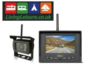 Wireless rear view camera with 5 inch monitor