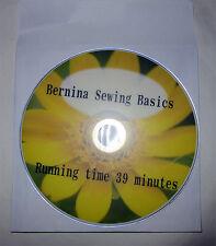 BERNINA Sewing Basics Instruction DVD Easy Way To Learn Machine Sewing