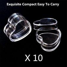 10Pcs Plastic Empty Cosmetic Lip Balm Cream Pot Jar Box Container Heart Shape