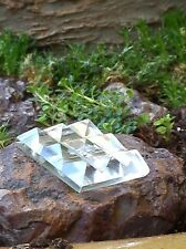 """SMALL CLEAR QUARTZ  9 PYRAMID CHARGING PLATE, MASTER HEALER, """"STONE OF POWER"""""""