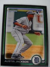 2010 Bowman Chrome #188 Austin Jackson Detroit Tigers Rookie RC Baseball Card