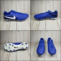 Nike Tiempo Legend 8 Pro FG Blue White  Soccer Cleats AT6133-414 Size 8 9 10 11