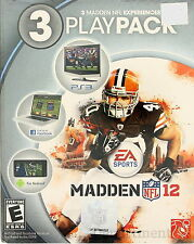 Play Pack EA Sports Madden NFL 12: Madden Experiences Madden 12 3 PlayPack NEW