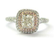 Tiffany & Co Soleste Platinum Cushion Cut Pink Diamond Engagement Ring 1.42C VVS