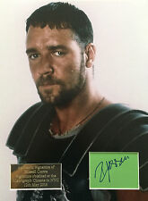 RUSSELL CROWE AUTHENTIC SIGNED GLADIATOR 16X12 PRESENTATION AFTAL & UACC [12749]