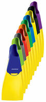 MIRAGE Deluxe Rubber Swim Fins - Size 9-11 Blue/Yellow - Swim Flippers - NEW
