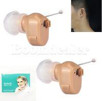 BTE K-188 Digital Hearing Aid Mini In Ear Sound Voice Amplifier Aids Adjustable