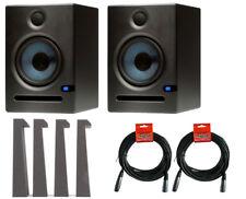 2x PreSonus Eris E8 Active Powered Studio Monitor Speaker + MoPADs + Cables