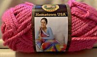Lion Brand Yarn Hometown USA HONOLULU PINK ~color #102 ~ Pink ~ Rose