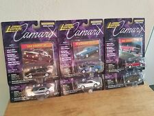 johnny lightning 1/64 diecast 6 camaro set limited  from 1967 to 1982 made 1999