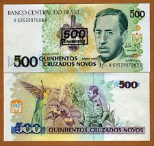 Brazil, 500 cruzeiros on 500 Cruzados Novos, ND (1990), P-226 (226b), UNC