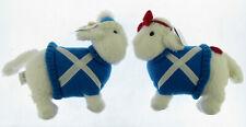 2xScottish flag Sheep Ram Ewe and Me Brand stuff toy gift collectible souvenir