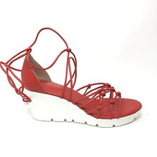 Charles by Charles David Womens Sz 7.5 Vegas Strappy Wedge Sandals Fire Red