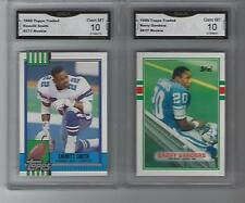 EMMITT SMITH and BARRY SANDERS TOPPS TRADED 2 CARD ROOKIE LOT GEM MINT 10 HOF