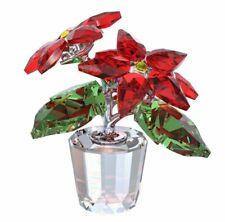 Swarovski Crystal Christmas Poinsettia 0905209 Figurine W/ Box