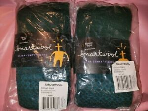 TWO PAIR NWT Women's Smartwool Estonia Tights Large Evergreen