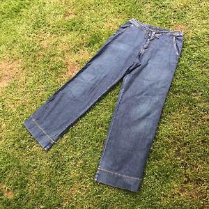 CALVIN KLEIN | W29 UK 12 | Vintage Y2K Wide Leg Flared Jeans | Denim