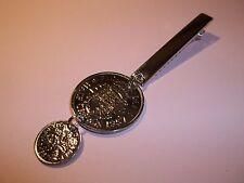 Half crown & Sei Pence Coin Drop Tovagliolo Clip - 1959 - 58th Compleanno