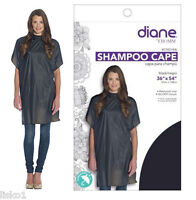 "Diane #DTA01406 Shampoo Cape 36""x 54"" Vinyl self grip Closure (BLACK)"