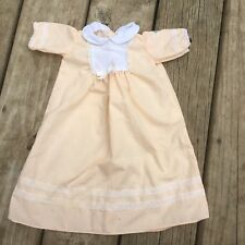 Vintage Coleco Cabbage Patch Kids Doll Dress Peach White Lace Peter Pan Collar
