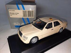 Minichamps Mercedes Benz E Class Limousine TAXI 1994 1/43 430033595